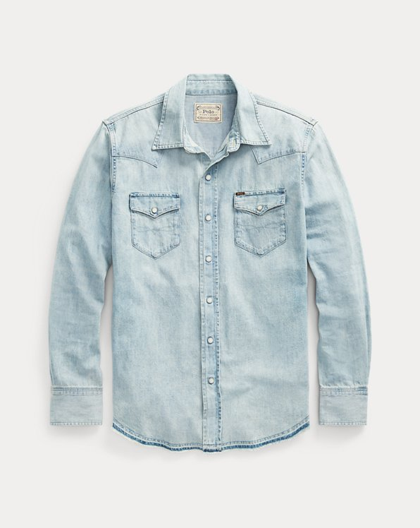 Classic Fit Denim Western Shirt