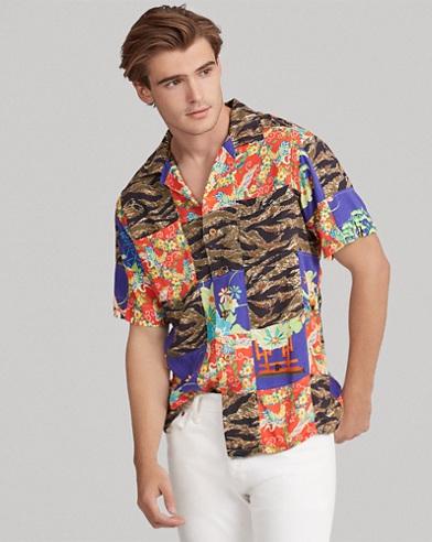 Classic Fit Patchwork Shirt