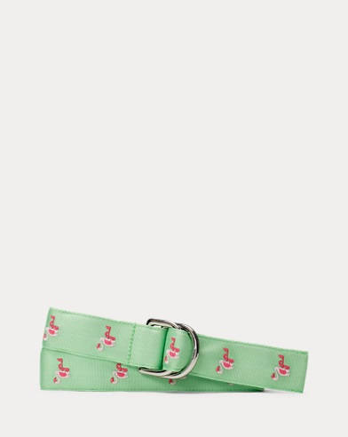 Flamingo Grosgrain Belt