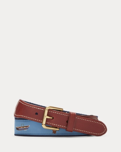 Polo Bear Grosgrain Belt