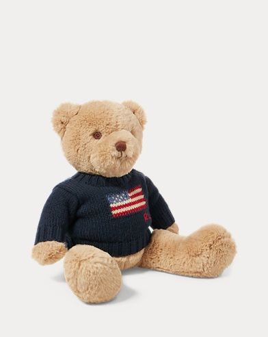 Small Flag-Sweater Polo Bear. Baby
