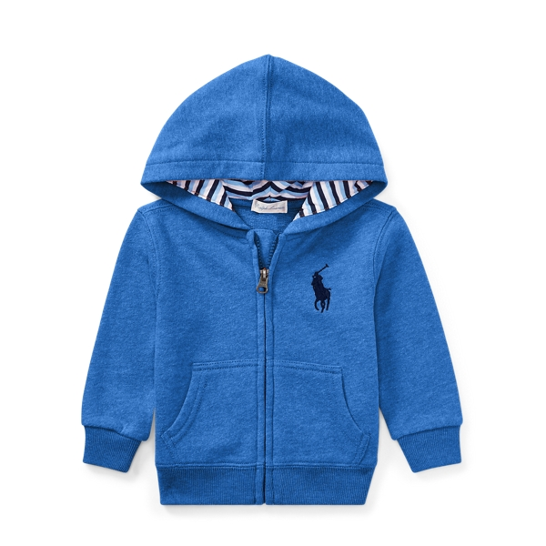 Ralph Lauren Cotton-Blend-Fleece Hoodie New Iris 3M