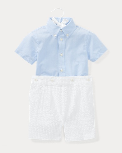 Cotton Shirt & Short Set