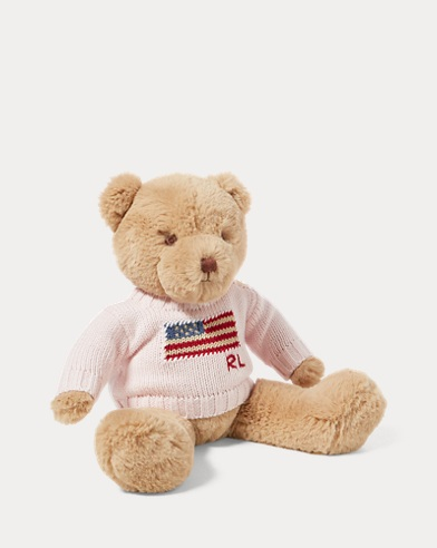 Ourson Polo Bear à pull drapeau