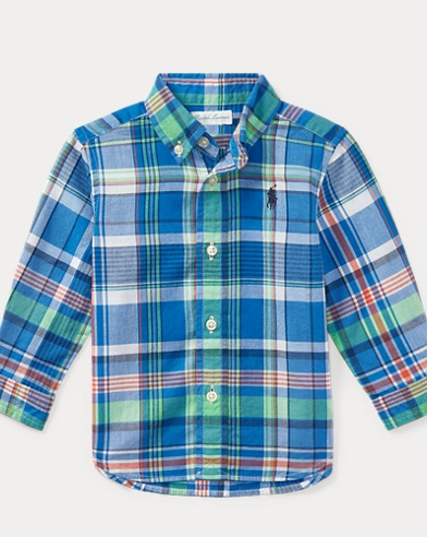 Plaid Cotton Madras Shirt