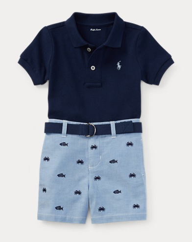 Polo, Belt & Short Set