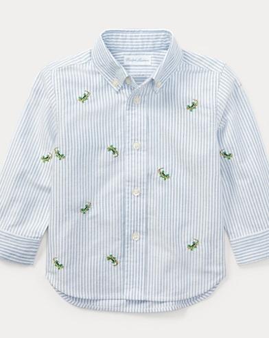 Camicia Oxford in cotone a righe