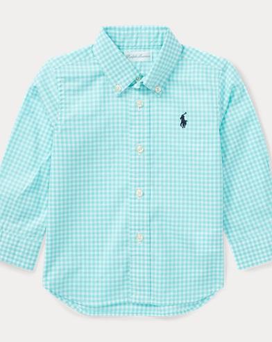 Camicia vichy in cotone stretch