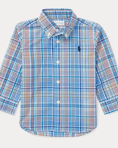 Camicia scozzese in cotone stretch