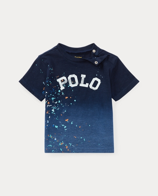 Paint Splattered Cotton Polo