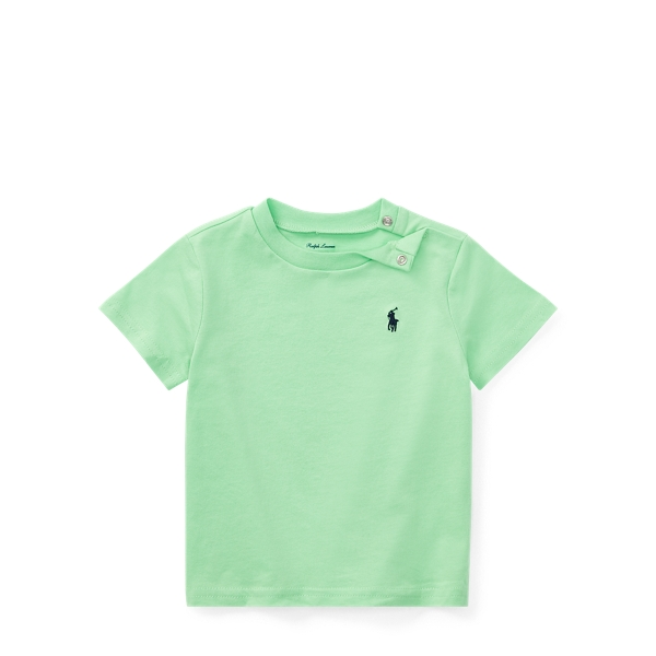Ralph Lauren Cotton Jersey Crewneck T-Shirt New Lime 3M