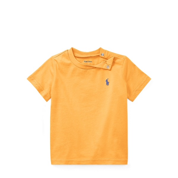 Ralph Lauren Cotton Jersey Crewneck T-Shirt Thai Orange 9M