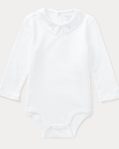 Embroidered Cotton Bodysuit