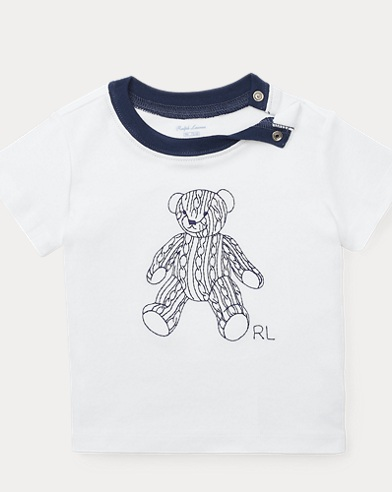 T-shirt ourson interlock de coton