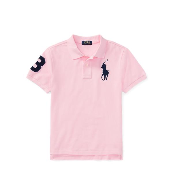 Ralph Lauren Custom Fit Cotton Mesh Polo Carmel Pink S
