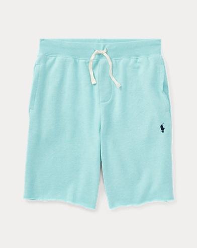 Shorts aus Baumwollfleece