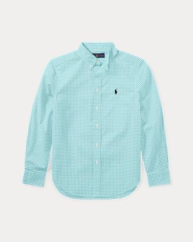 Gingham Stretch Cotton Shirt