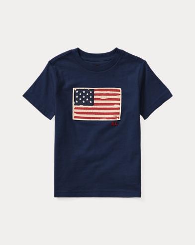 Flag Cotton Jersey T-Shirt