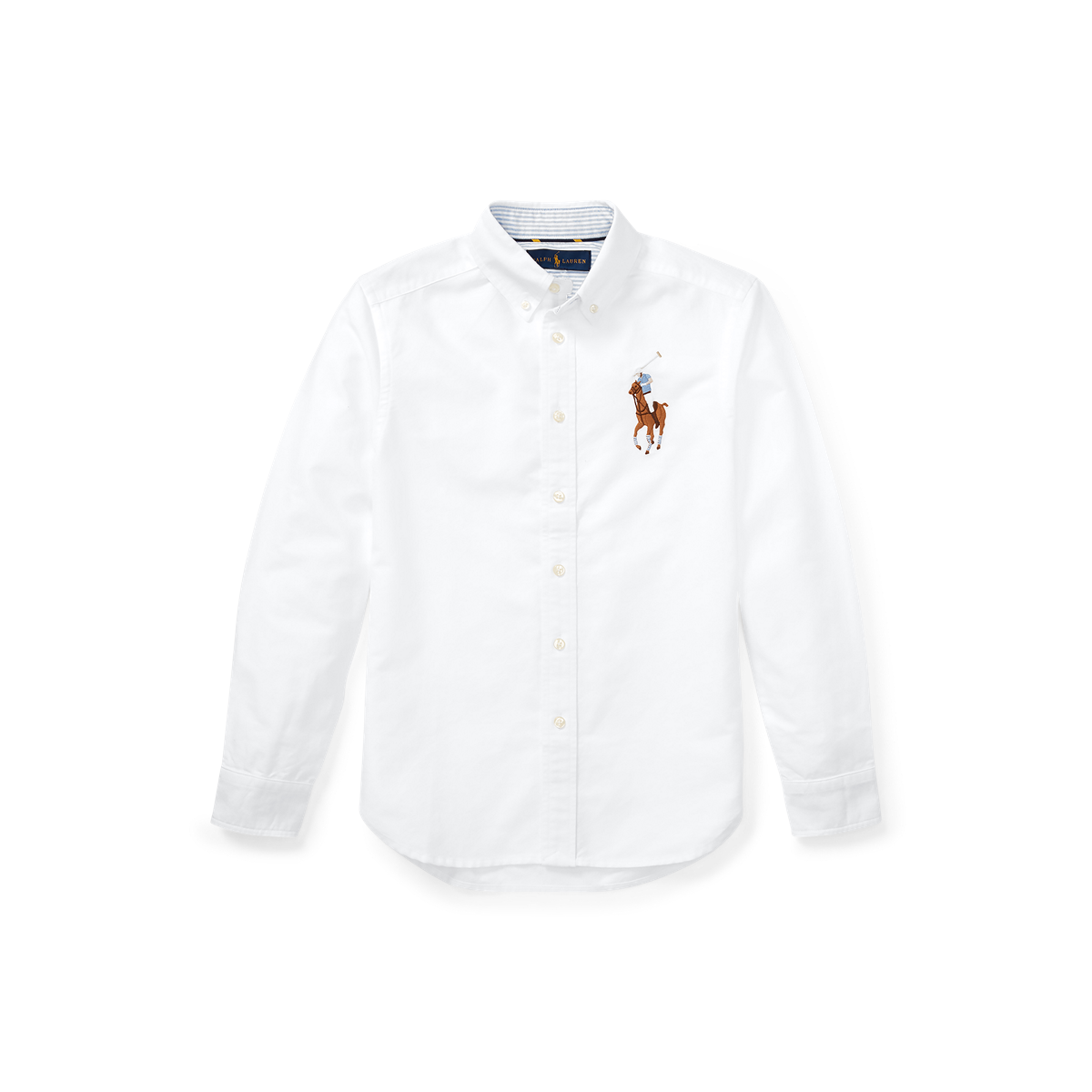 RALPH LAUREN Baby Boys Checked Cotton Oxford Shirt