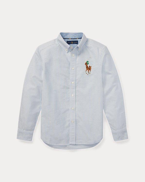 Big Pony Striped Oxford Shirt