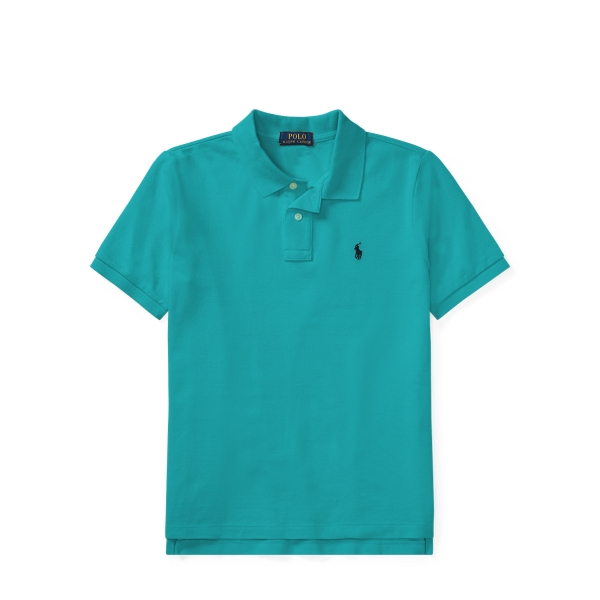 Ralph Lauren Cotton Mesh Polo Shirt Western Turquoise M