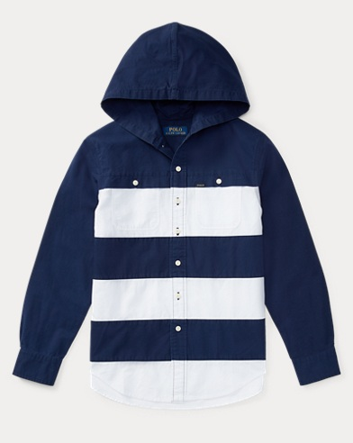 Cotton Ripstop Hooded Shirt