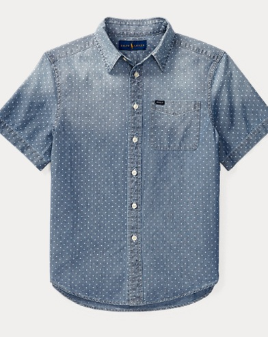 Star Cotton Chambray Shirt