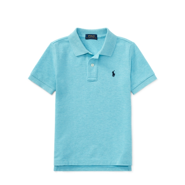 Ralph Lauren Cotton Mesh Polo Shirt Beach Aqua Heather 3T