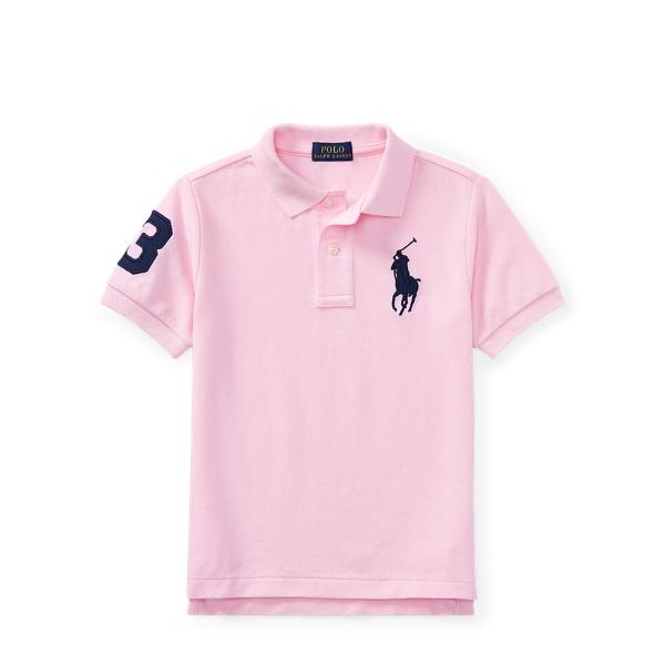 Ralph Lauren Cotton Mesh Polo Shirt Carmel Pink 2T