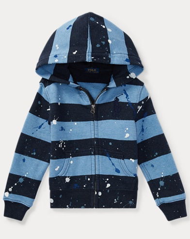 Paint-Splatter Cotton Hoodie