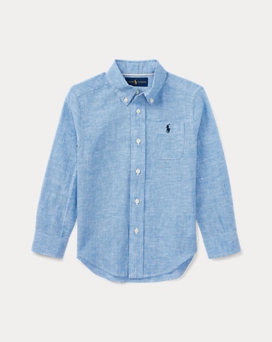 Linen-Cotton-Chambray Shirt