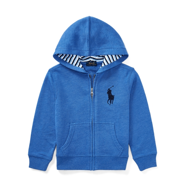 Ralph Lauren Cotton-Blend-Fleece Hoodie New Iris 5