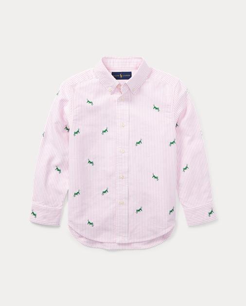 3c9b735b8 BOYS 1.5-6 YEARS Striped Cotton Oxford Shirt 1