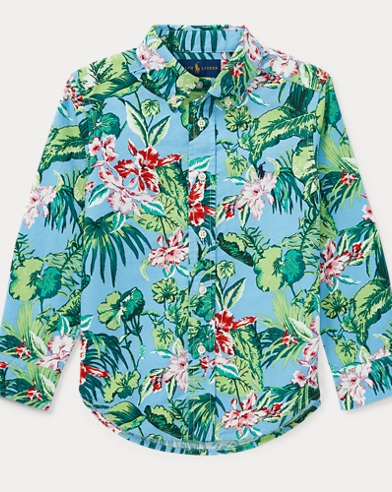 Tropical Cotton Oxford Shirt