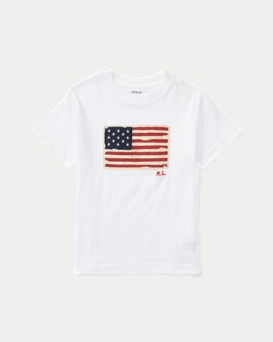 T-shirt drapeau en jersey de coton