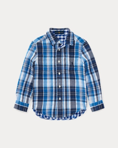 Reversible Plaid Cotton Shirt