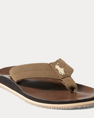 Leo Faux-Leather Flip-Flop