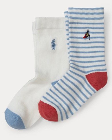 Striped Crew Sock 2-Pack