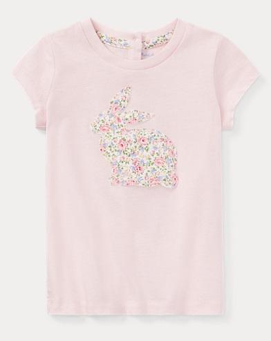 Floral Bunny Cotton T-Shirt