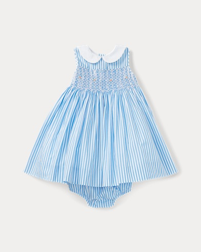 Stripe Smocked Dress & Bloomer