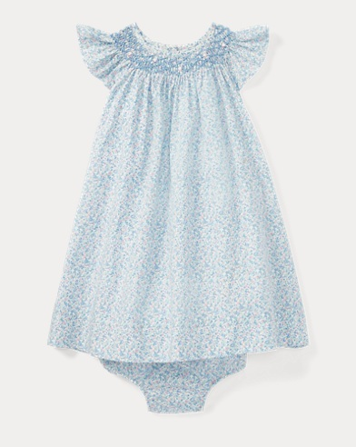 Floral Smocked Dress & Bloomer