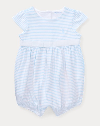 Striped Cotton Jersey Romper