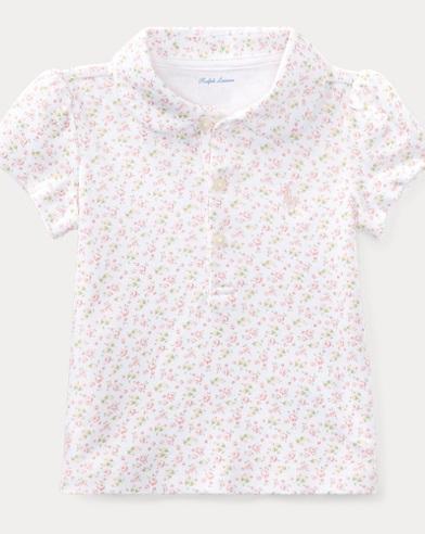 Floral Cotton Interlock Polo