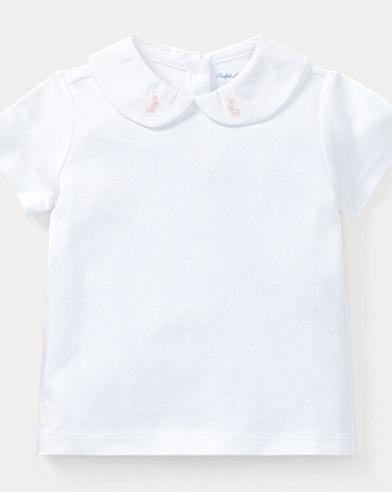 Bunny Collar Cotton Top