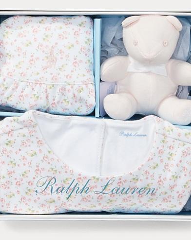 Romper, Hat, & Bear Gift Set