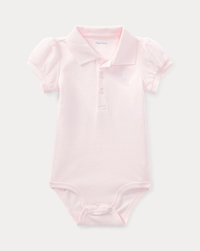Cotton Polo Bodysuit