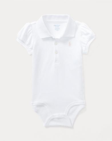 Cotton Polo Bodysuit