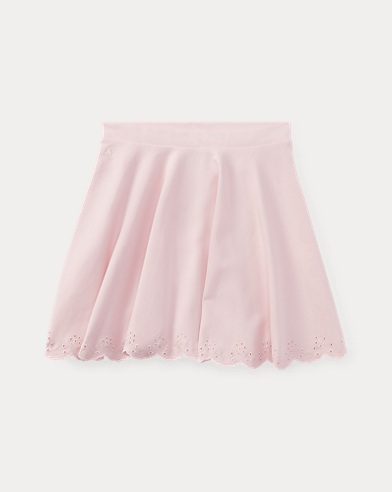 Scalloped Ponte Pull-On Skirt