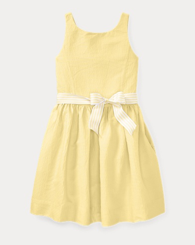 Pintucked Cotton Dress