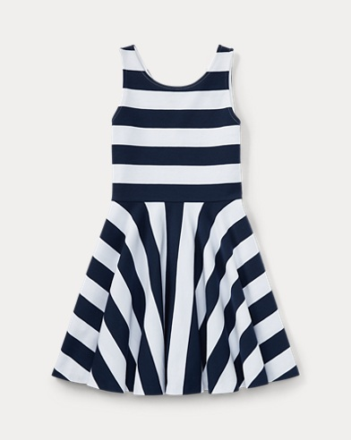 Striped Ponte Sleeveless Dress